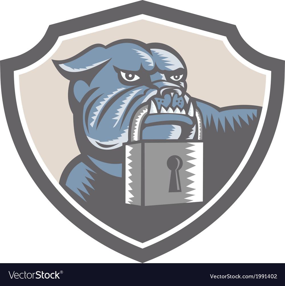 Bulldog dog mongrel padlock shield vector | Price: 1 Credit (USD $1)
