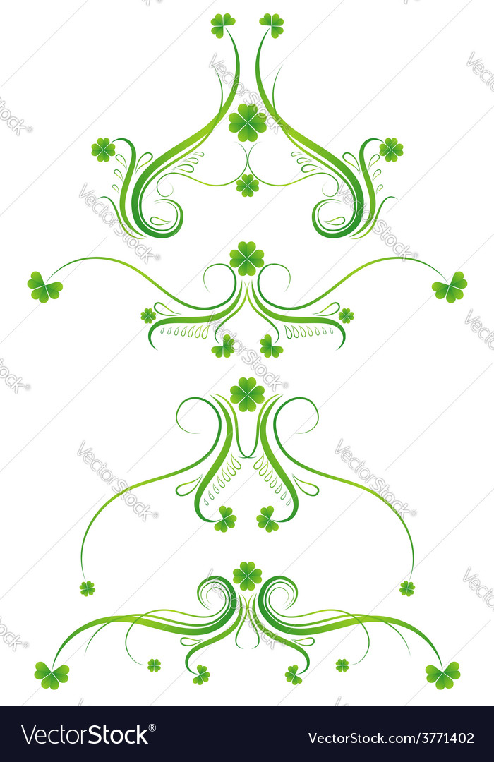 Decorative ornament with lovely shamrock vector | Price: 1 Credit (USD $1)