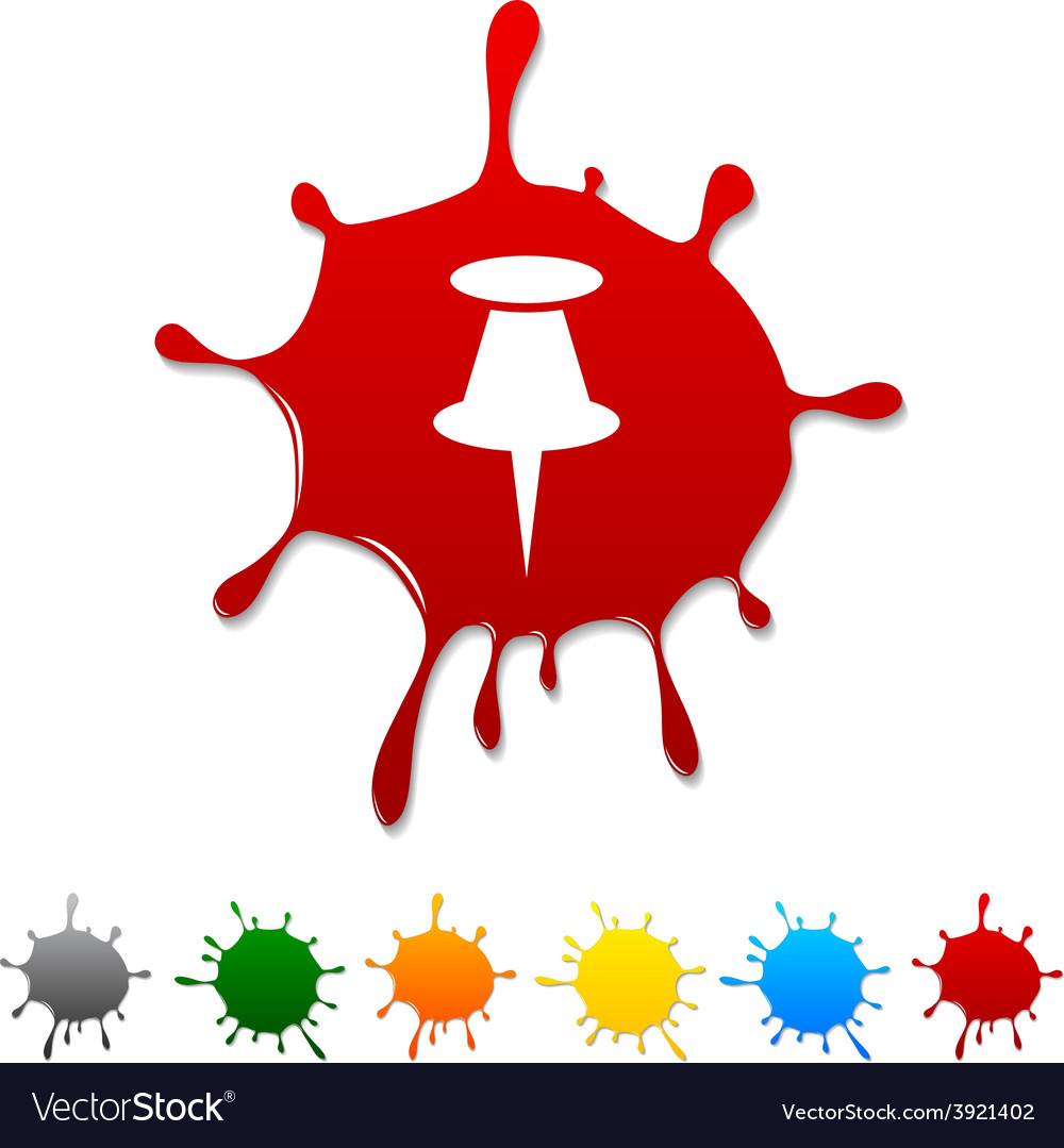 Drawing-pin blot vector | Price: 1 Credit (USD $1)