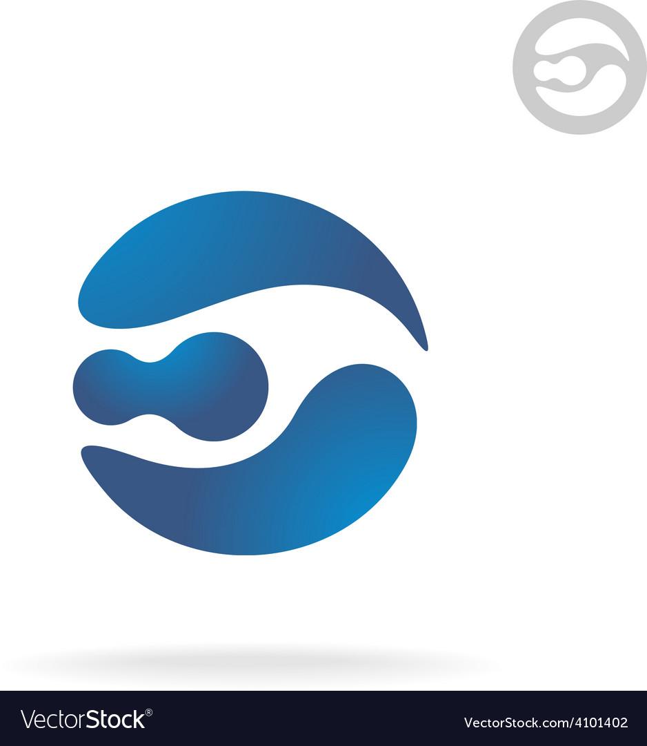 E letter globe logo template robot head vector | Price: 1 Credit (USD $1)