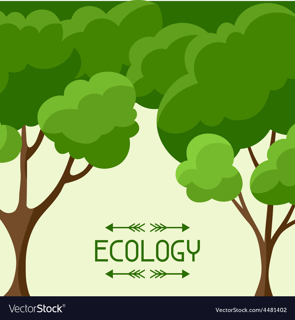 Ecology background design with abstract stylized vector | Price: 1 Credit (USD $1)