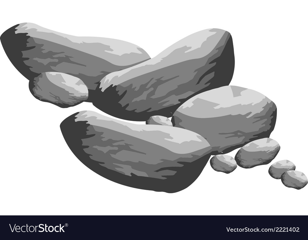 Grey big rocks vector | Price: 1 Credit (USD $1)