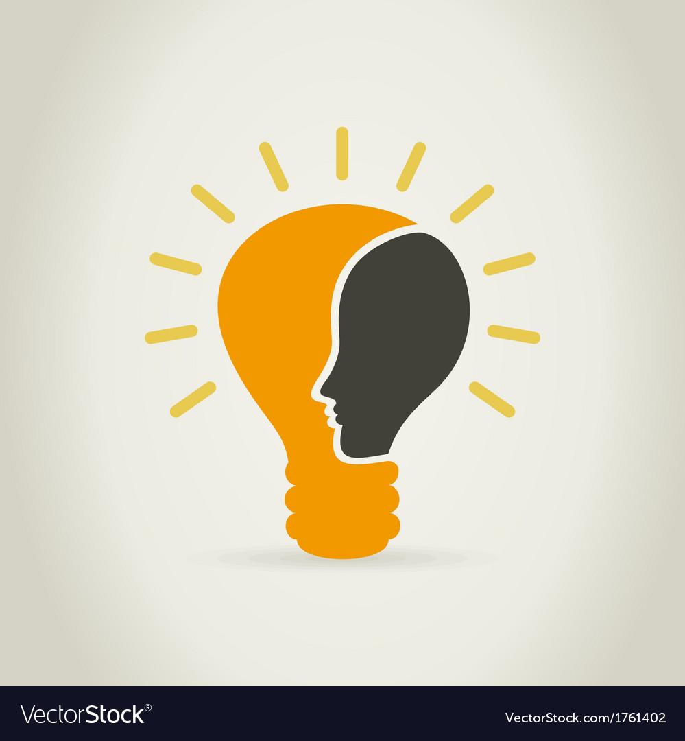 Head in a bulb vector | Price: 1 Credit (USD $1)