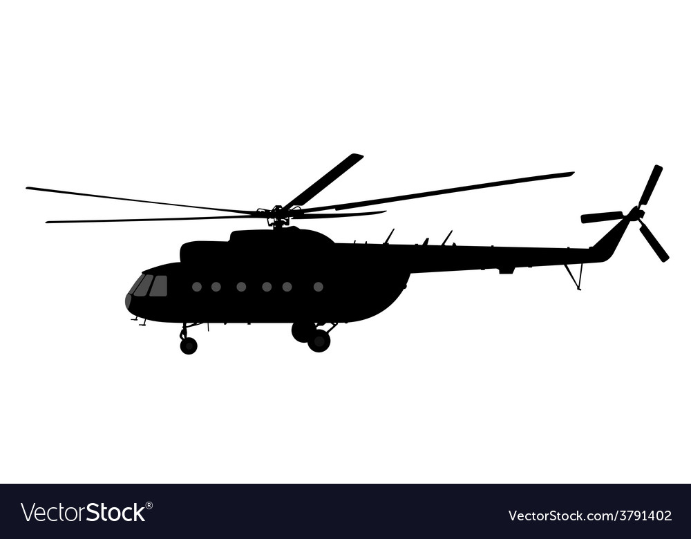 Helicopter of silhouette vector | Price: 1 Credit (USD $1)