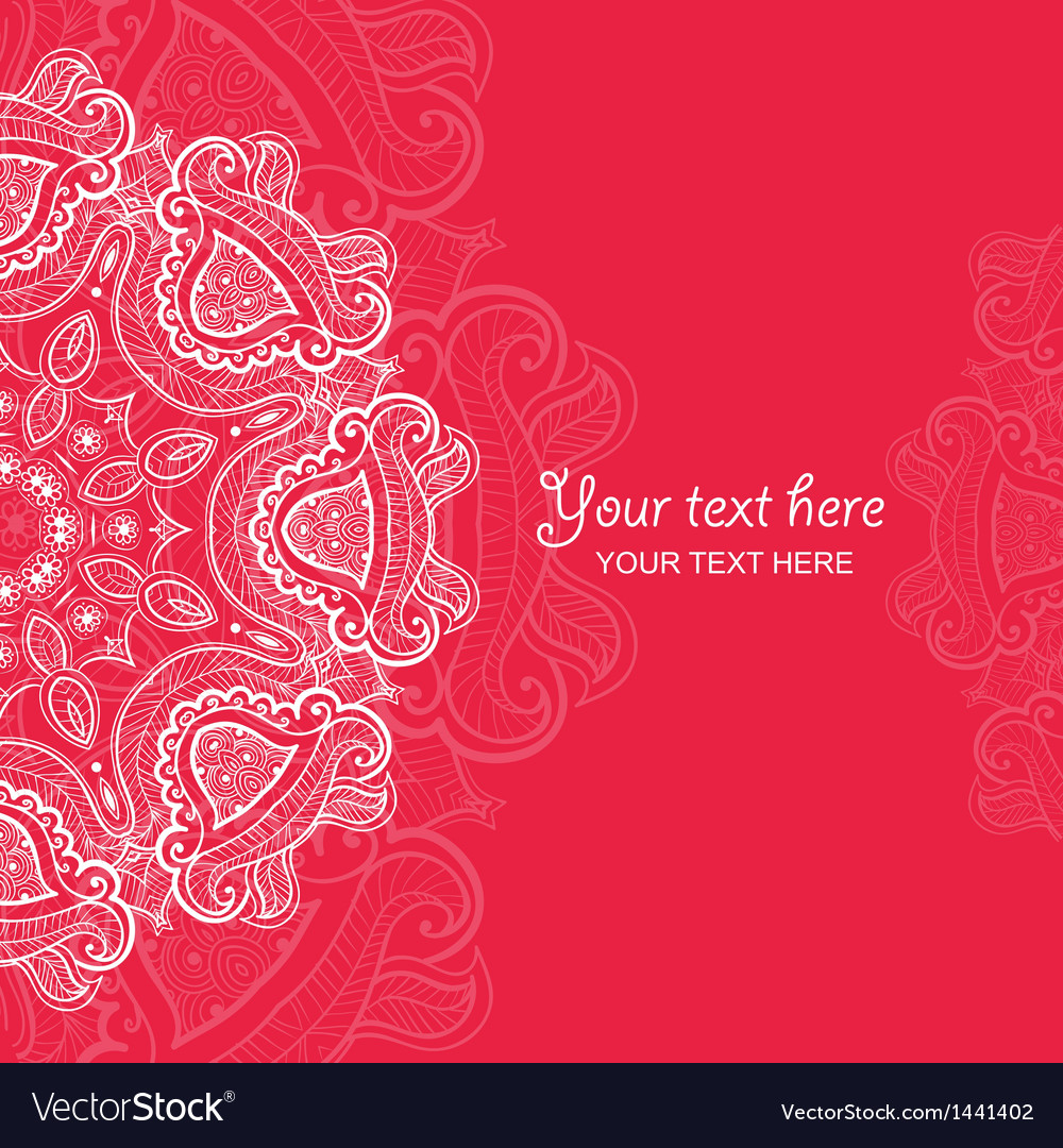 Invitation card with lace ornament 4 vector | Price: 1 Credit (USD $1)