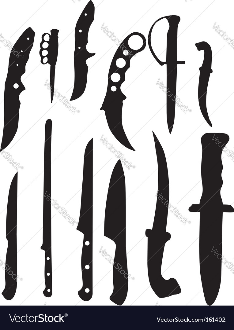 Knifes silhouettes vector | Price: 1 Credit (USD $1)
