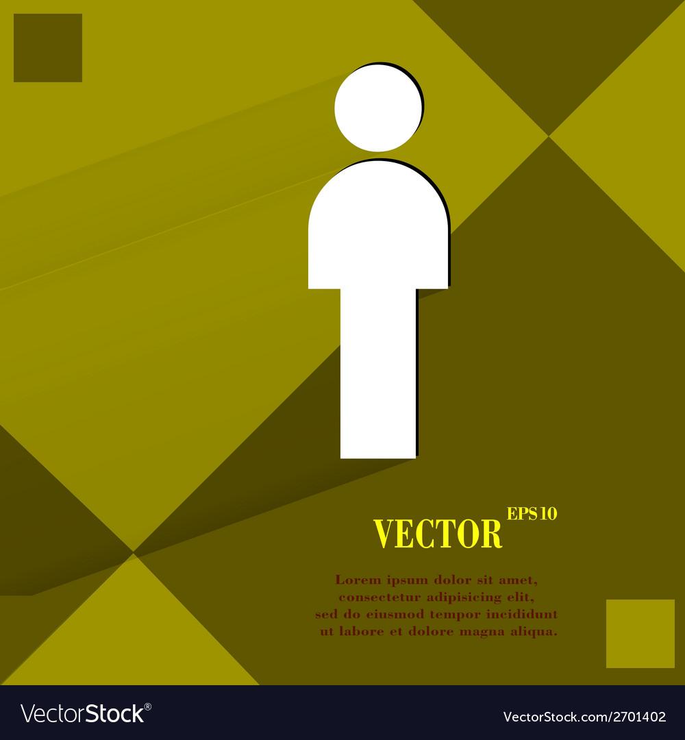 Man restroom flat modern web design on a flat vector   Price: 1 Credit (USD $1)