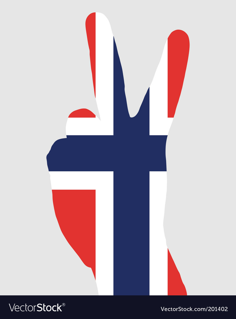 Norwegian finger signal vector | Price: 1 Credit (USD $1)