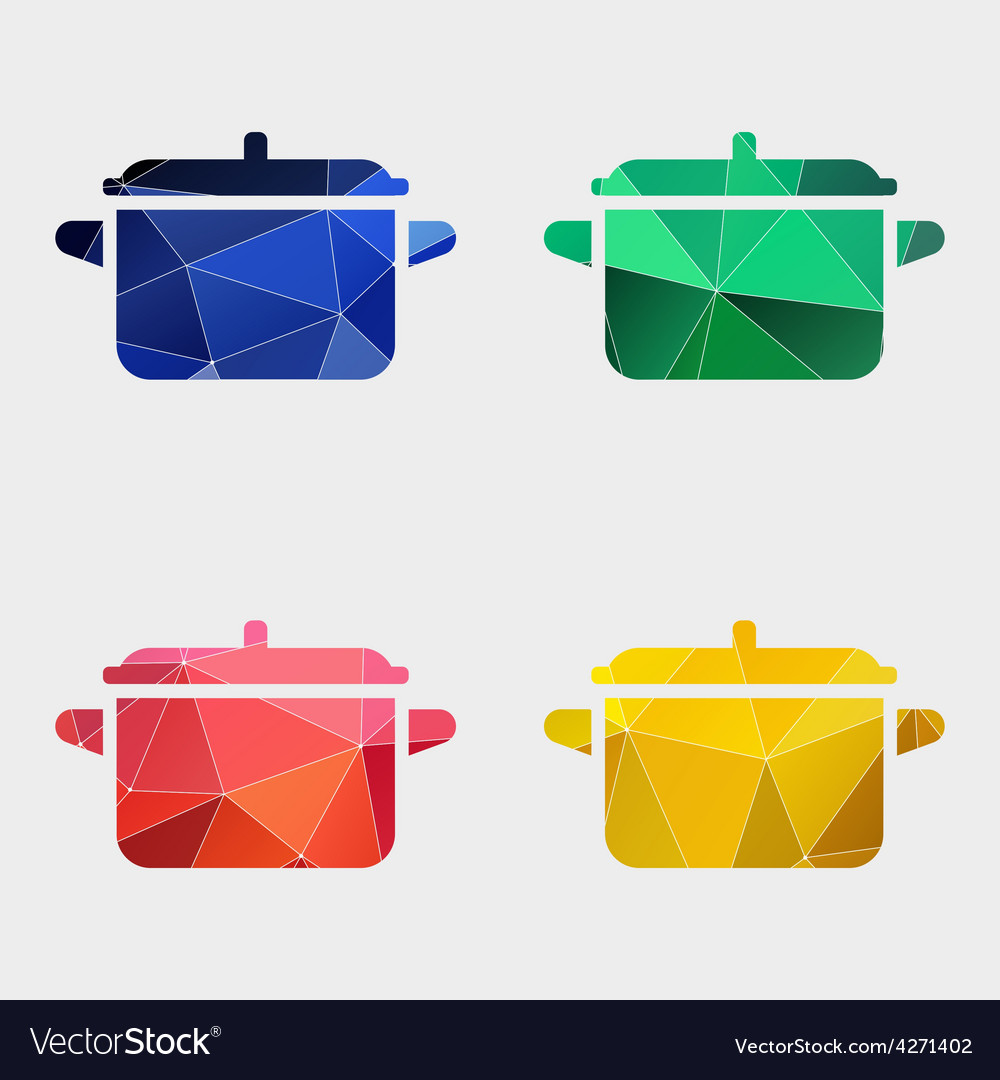 Pot icon abstract triangle vector | Price: 1 Credit (USD $1)