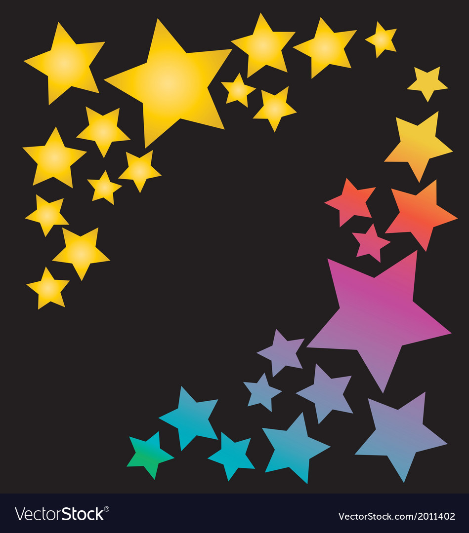 Stars in rainbow colors vector | Price: 1 Credit (USD $1)