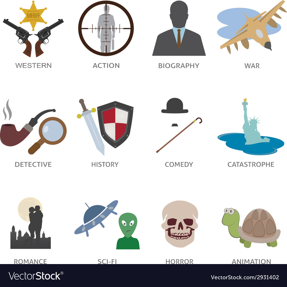 Type of movie vector | Price: 1 Credit (USD $1)