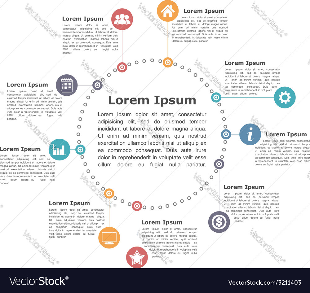 Circle infographics vector   Price: 1 Credit (USD $1)