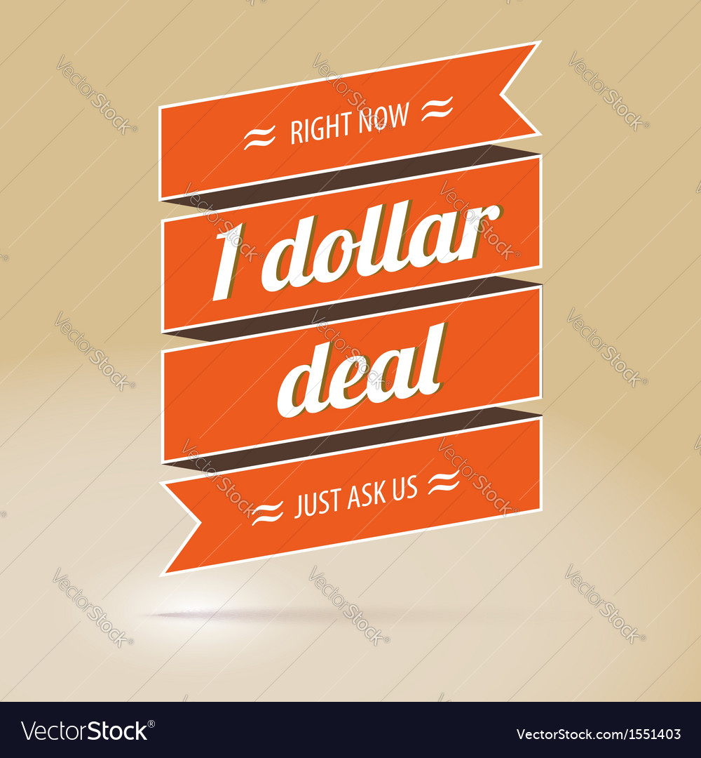 Dollar deal poster vector | Price: 1 Credit (USD $1)