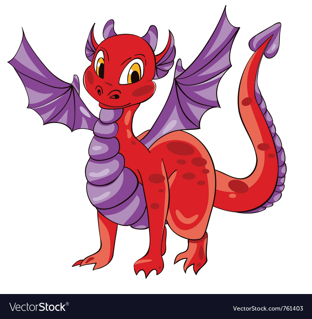 Dragon purple wings vector | Price: 1 Credit (USD $1)