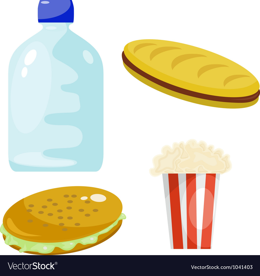 Fast food products vector | Price: 1 Credit (USD $1)