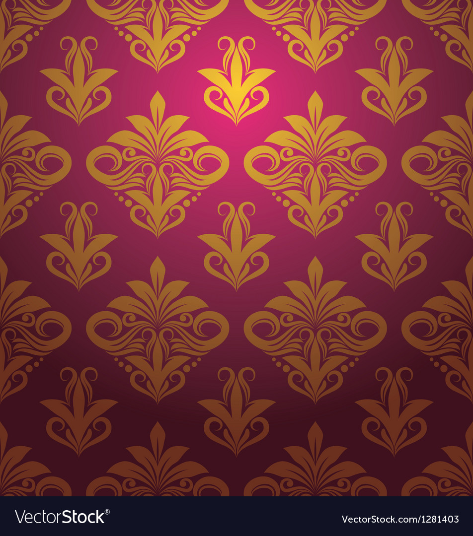 Gold floral ornament pattern vector | Price: 1 Credit (USD $1)