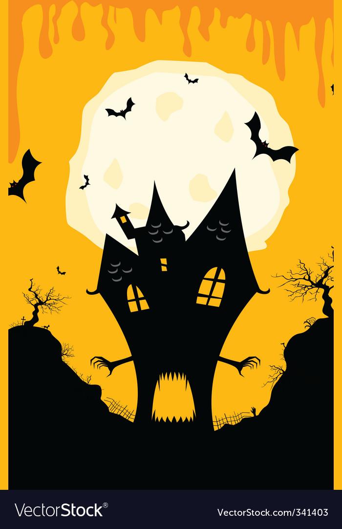 Halloween house vector | Price: 1 Credit (USD $1)
