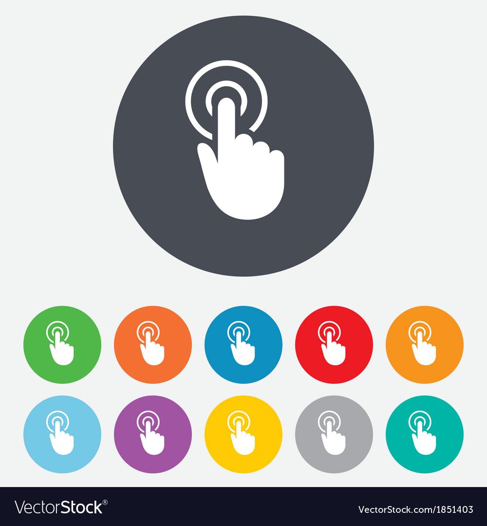 Hand cursor sign icon hand pointer symbol vector | Price: 1 Credit (USD $1)