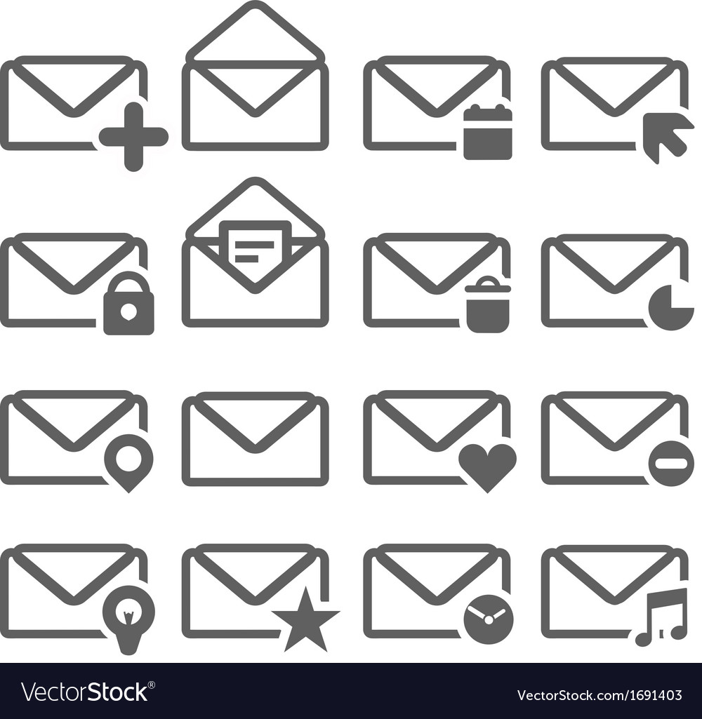 Letter icons vector | Price: 1 Credit (USD $1)