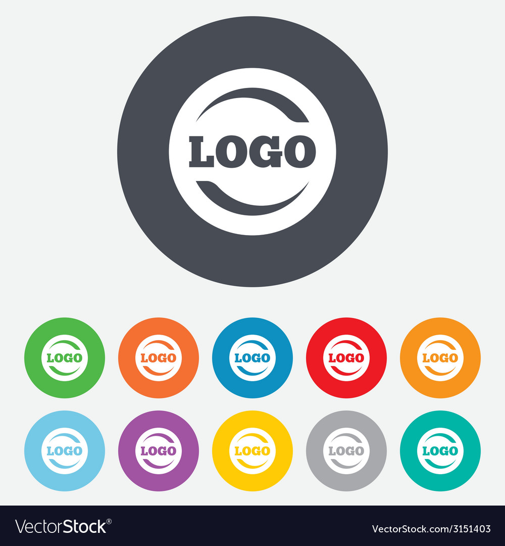 Logo sign icon place for logotype vector | Price: 1 Credit (USD $1)