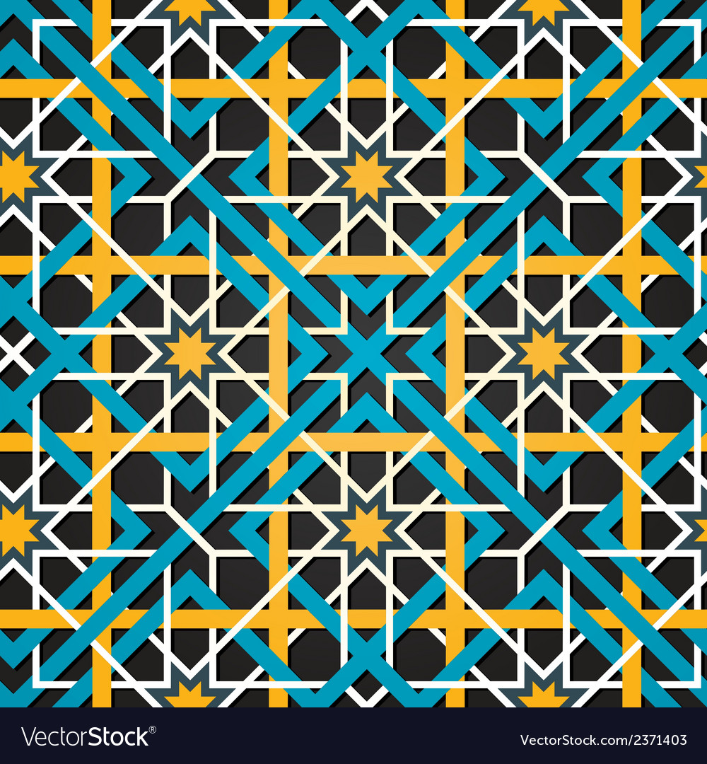 Moroccan ornament seamless background vector | Price: 1 Credit (USD $1)