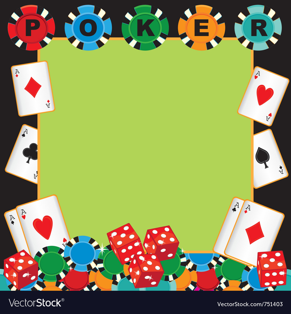 Poker party gambling invitation vector | Price: 1 Credit (USD $1)