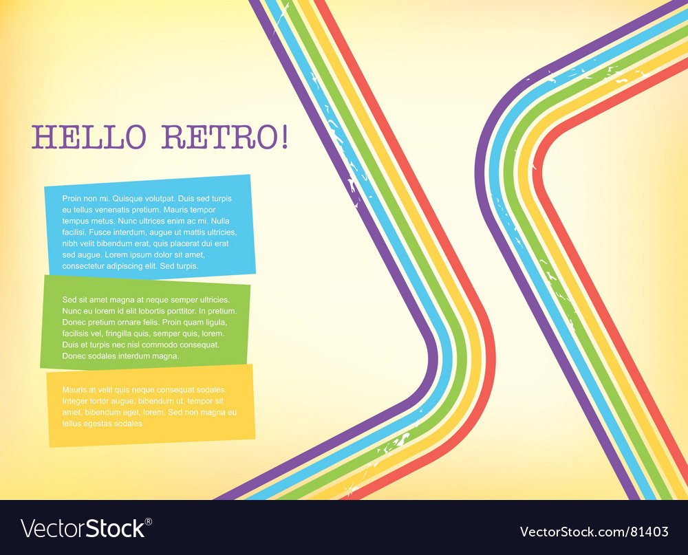 Retro style background vector | Price: 1 Credit (USD $1)