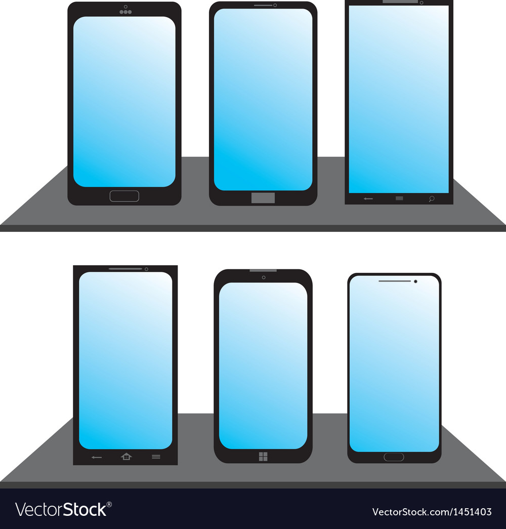 Set of mobile phones vector   Price: 1 Credit (USD $1)