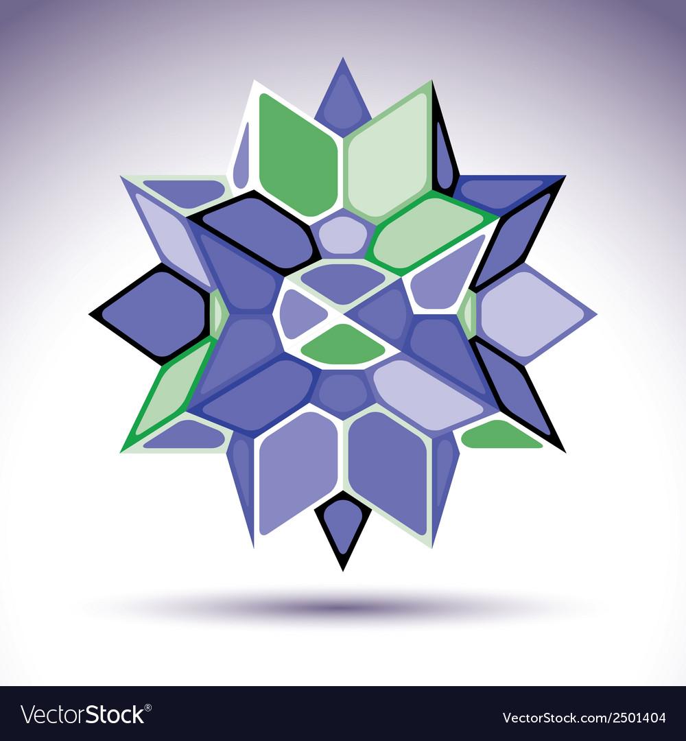 3d precious stone indigo geometric stylish figure vector | Price: 1 Credit (USD $1)
