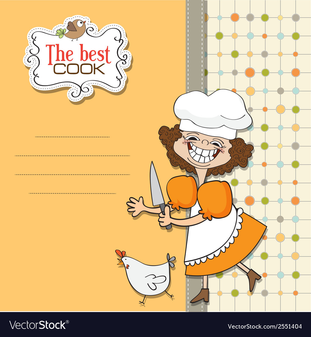 Best cook certificate with funny cook who runs a vector   Price: 1 Credit (USD $1)