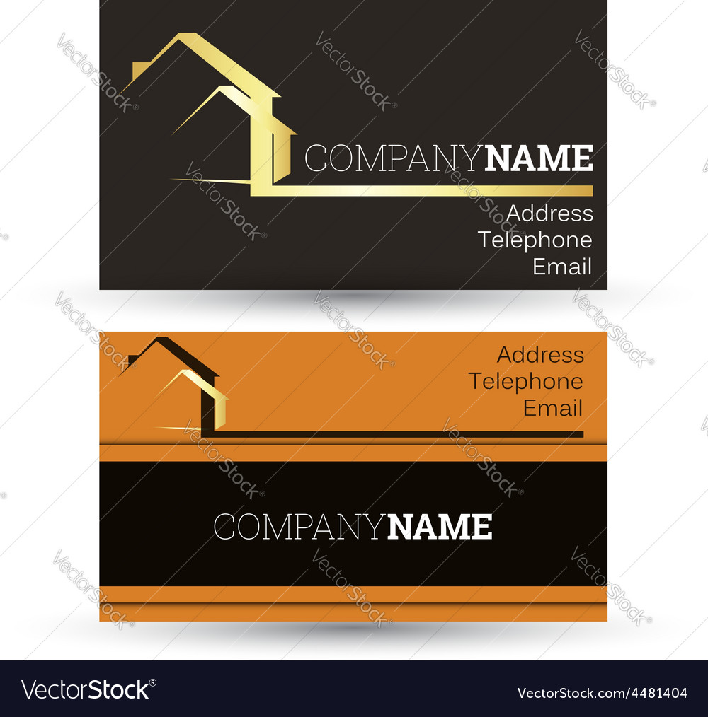 Business card housing vector | Price: 1 Credit (USD $1)