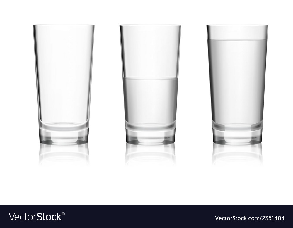 Full and empty glass vector | Price: 1 Credit (USD $1)