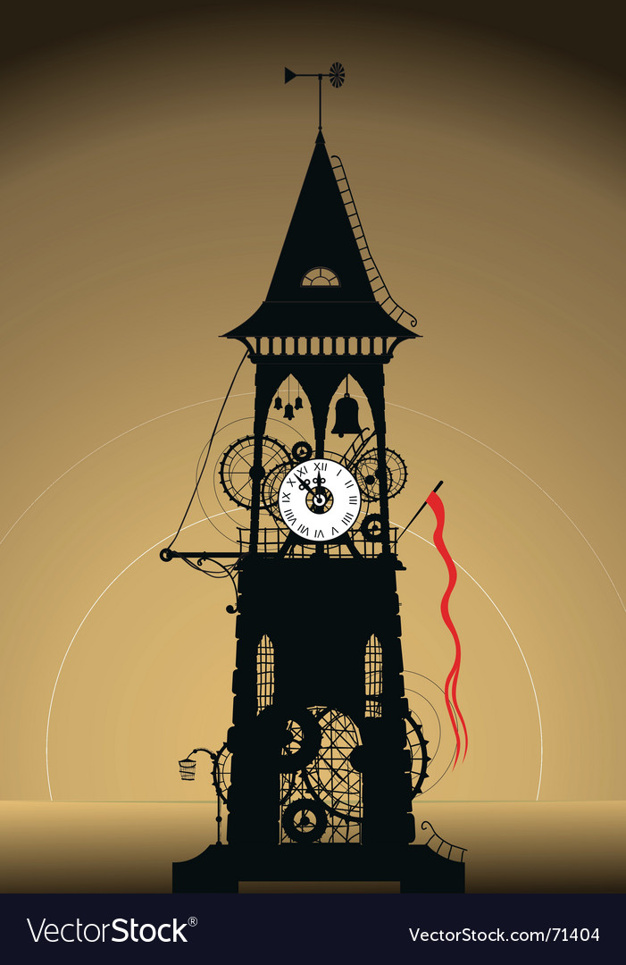 Grunge watch tower vector | Price: 1 Credit (USD $1)