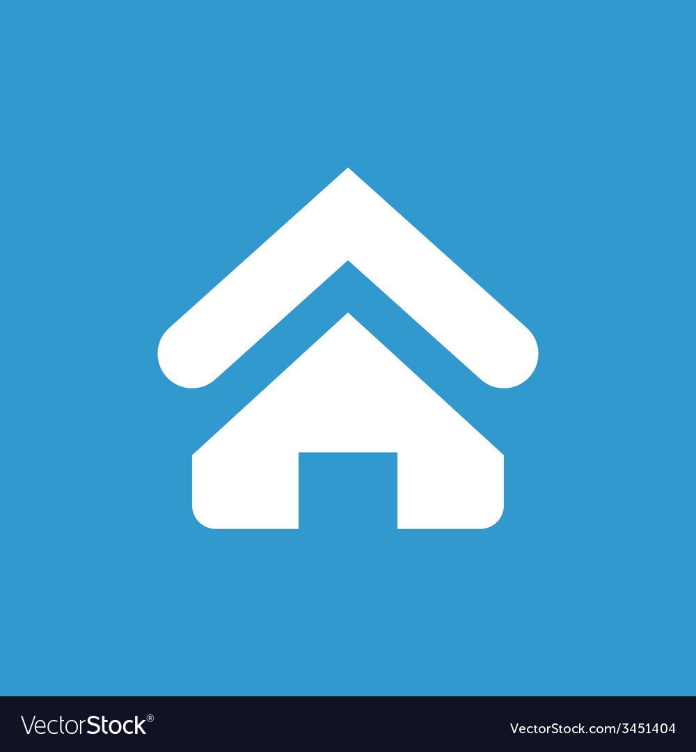 Home icon white on the blue background vector   Price: 1 Credit (USD $1)