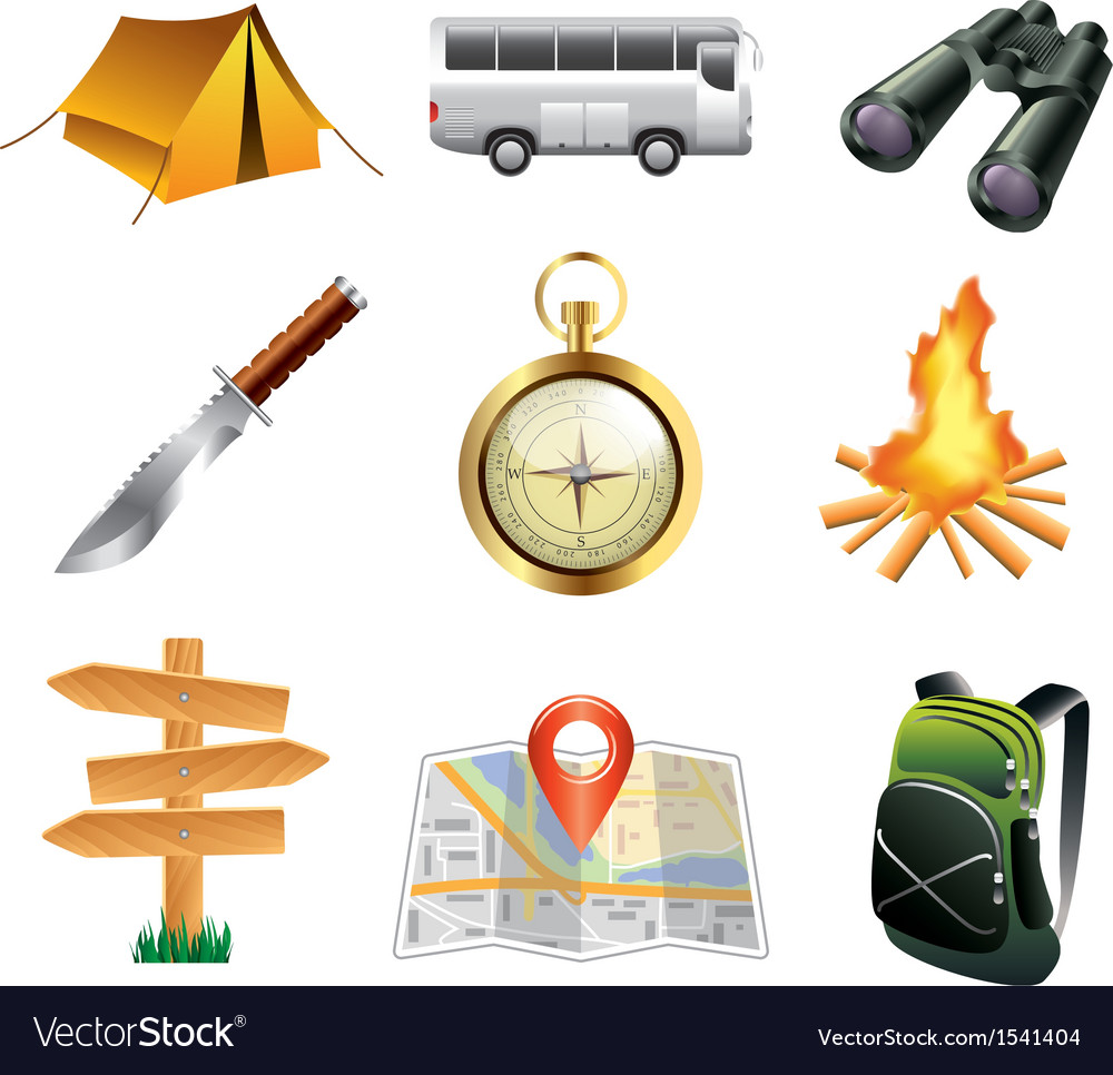 Icons tourism vector | Price: 3 Credit (USD $3)