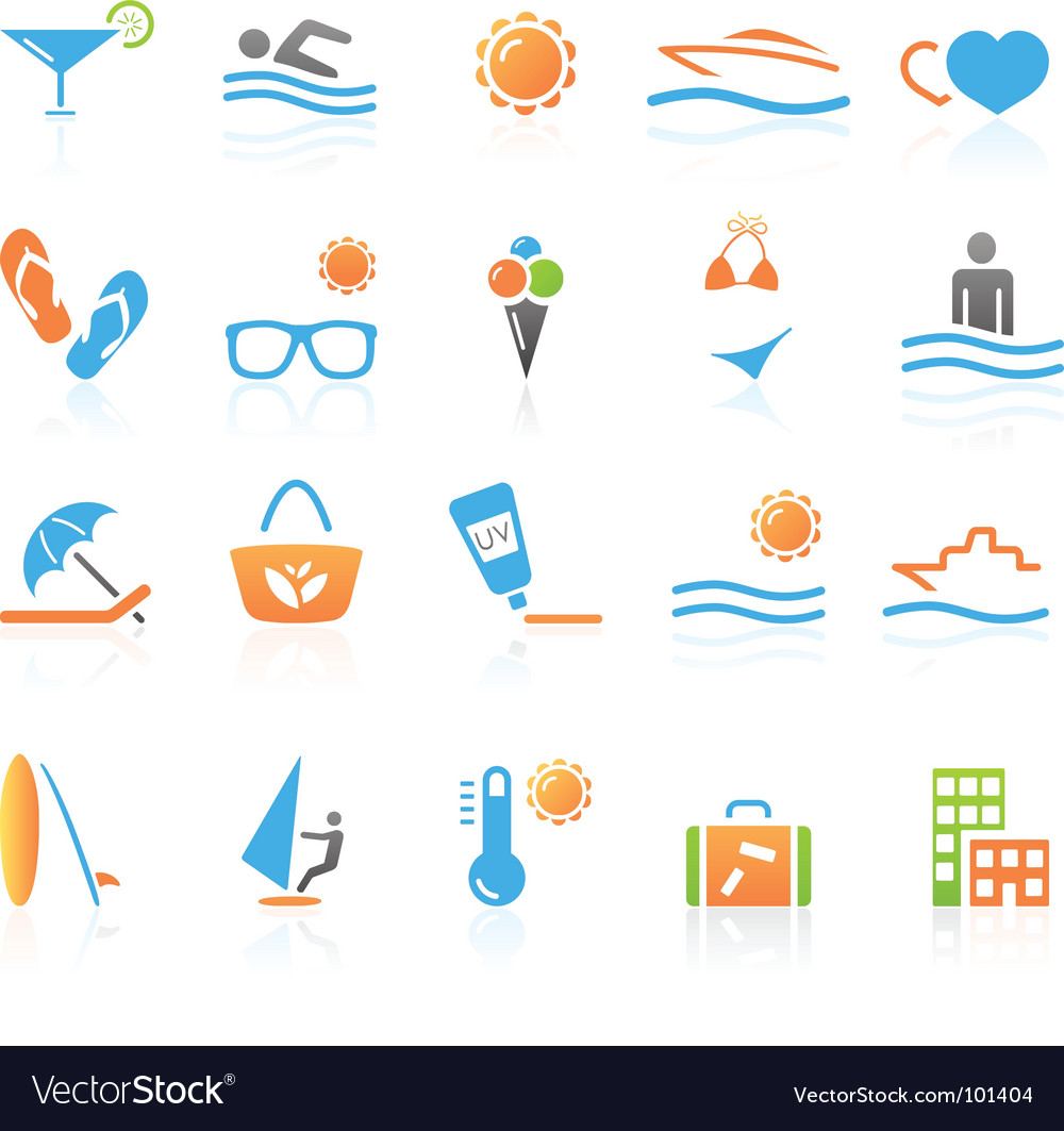 Leisure icons vector | Price: 1 Credit (USD $1)