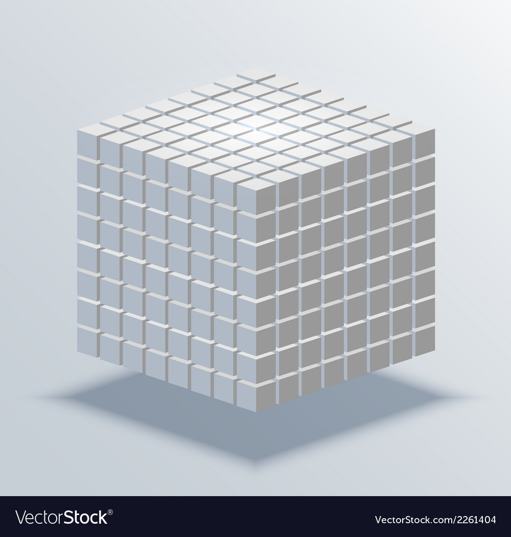 Modern cube business background vector | Price: 1 Credit (USD $1)