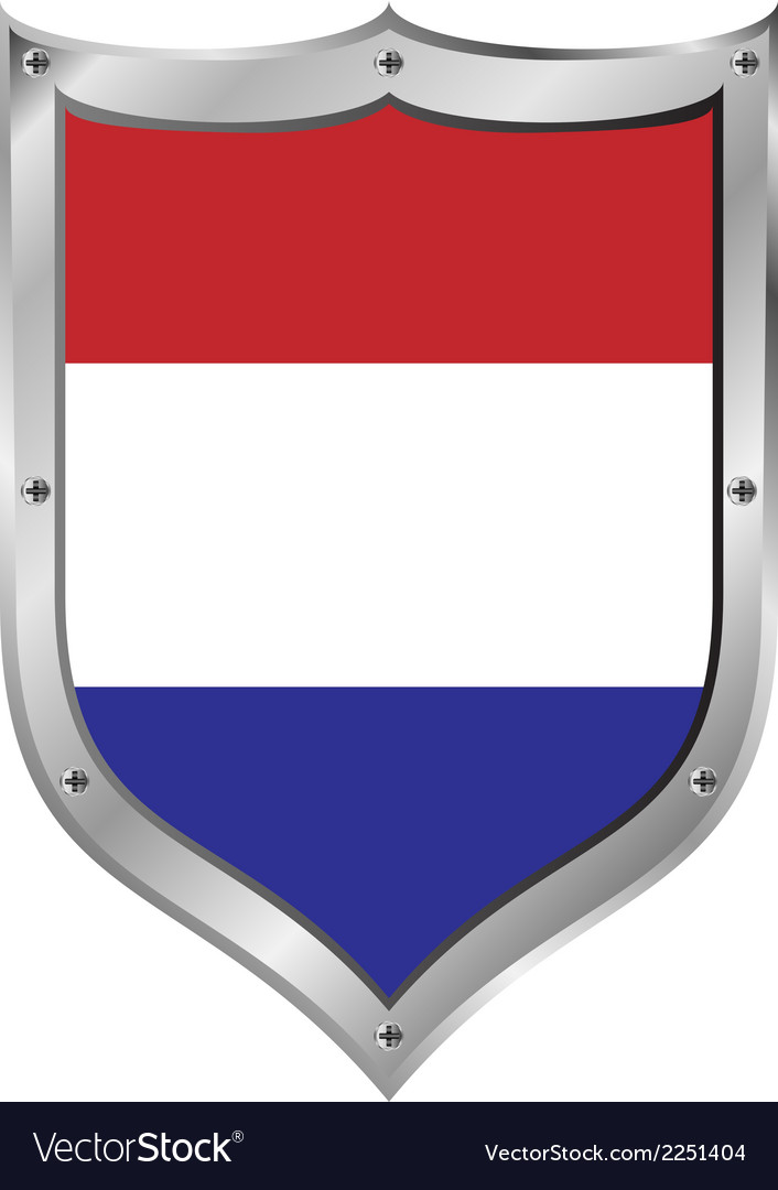 Netherlands flag button vector | Price: 1 Credit (USD $1)