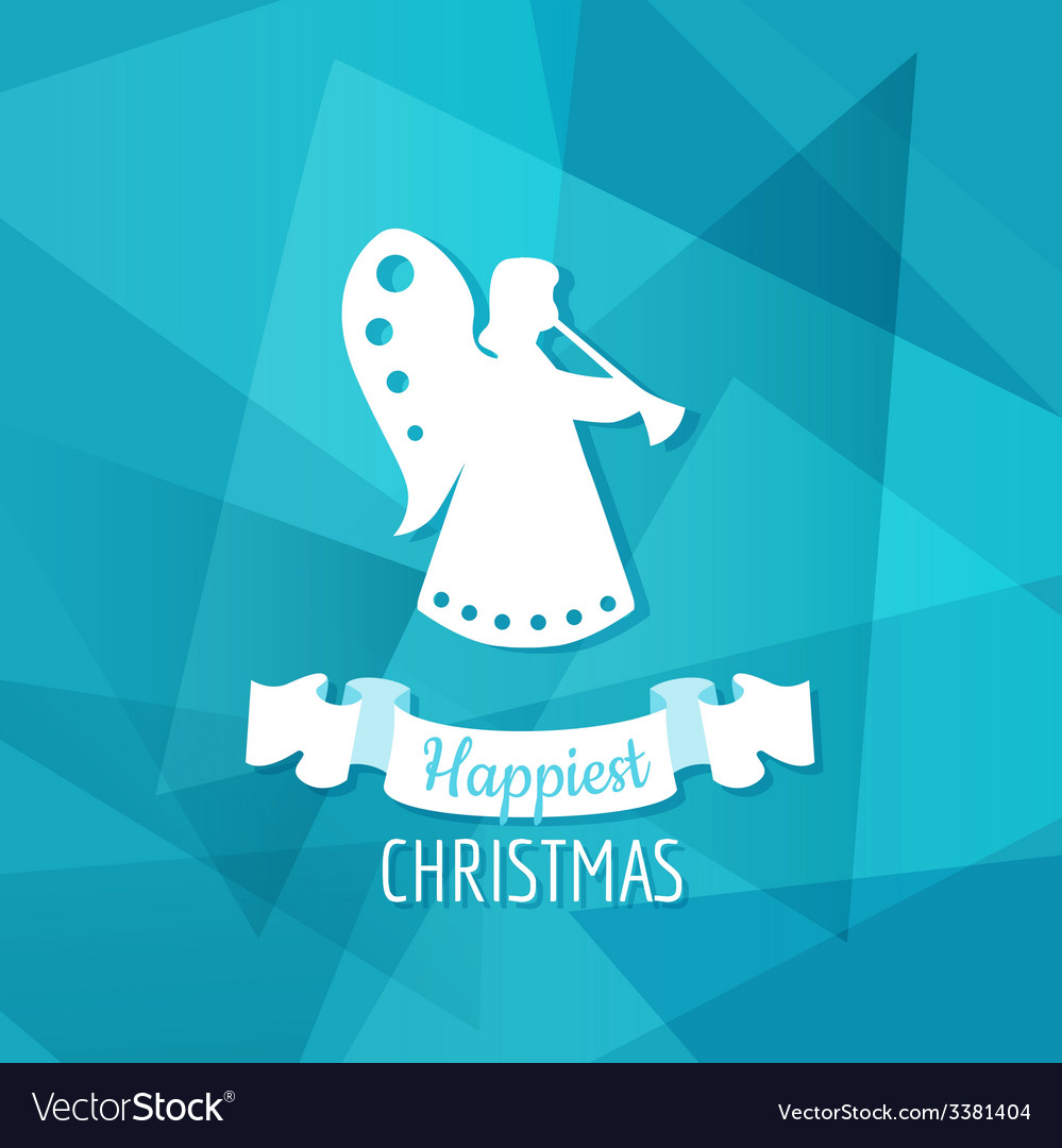 Paper angel - christmas background vector | Price: 1 Credit (USD $1)