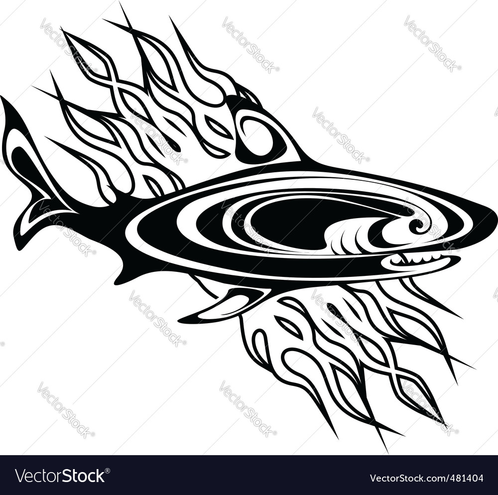 Shark tattoo vector | Price: 1 Credit (USD $1)