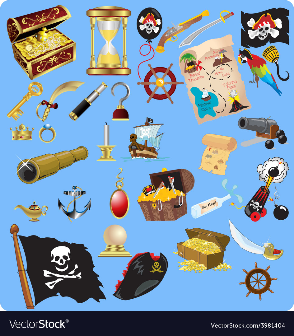 Treasure hunt vector | Price: 3 Credit (USD $3)