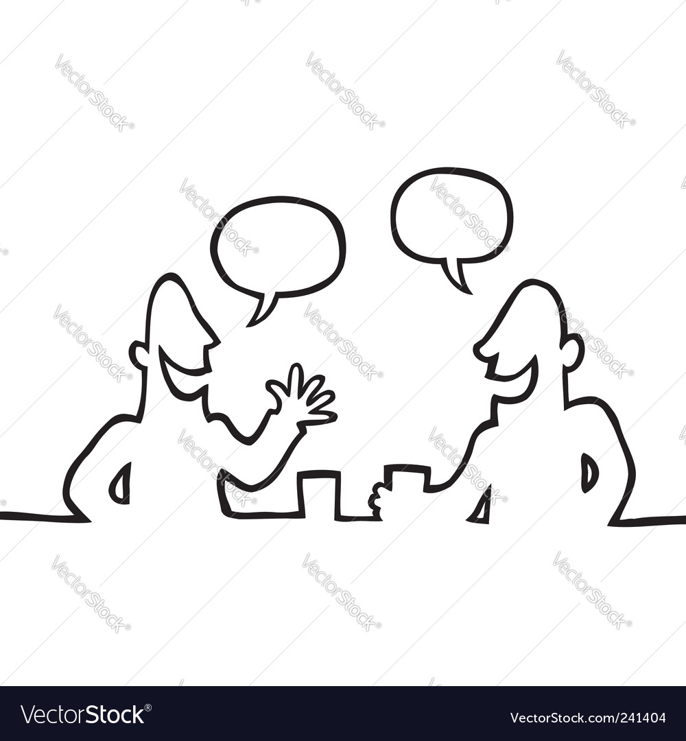 Two people having a chat vector | Price: 1 Credit (USD $1)