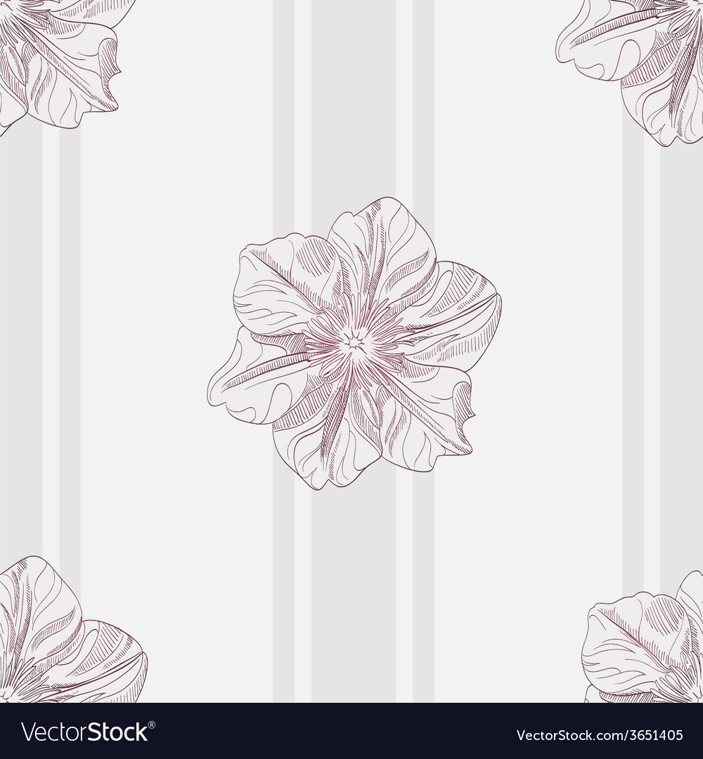 Hand-drawing floral seamless pattern vector | Price: 1 Credit (USD $1)
