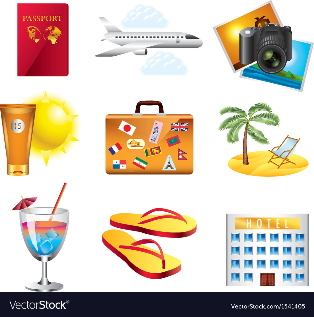 Icons travel vector | Price: 3 Credit (USD $3)
