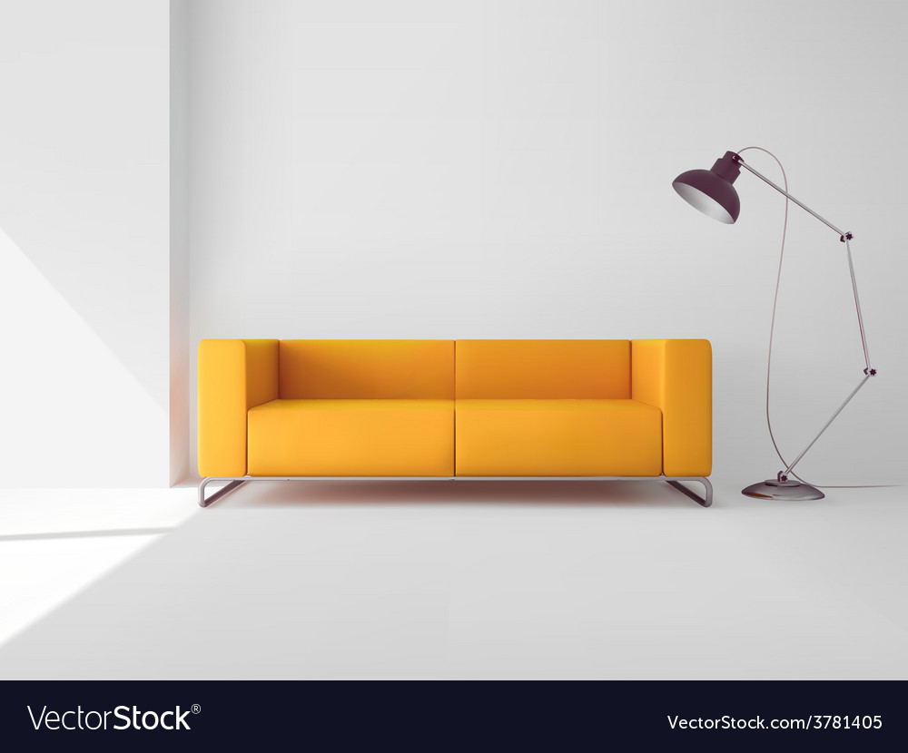Living room with sofa vector | Price: 1 Credit (USD $1)
