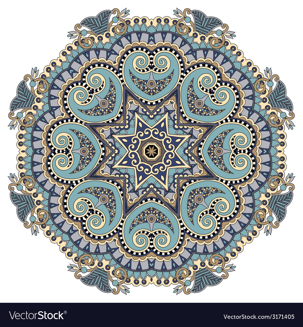 Mandala circle decorative spiritual indian symbol vector | Price: 1 Credit (USD $1)