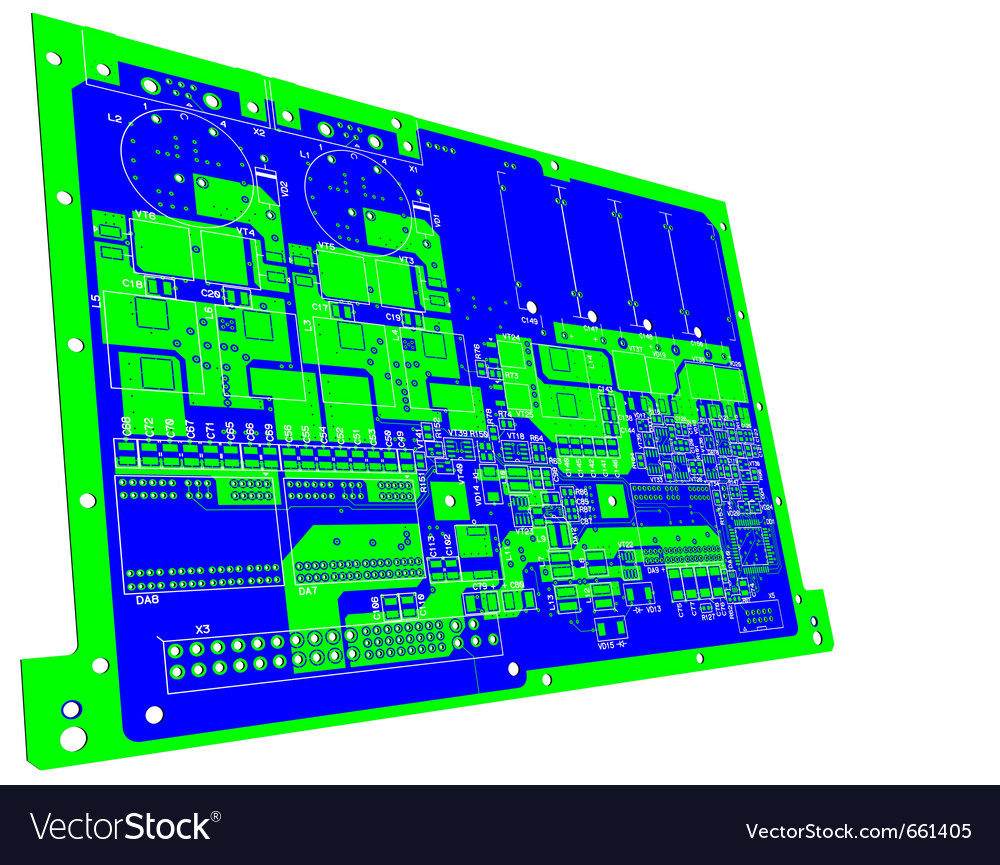 Printed circuit board without electronic component vector | Price: 1 Credit (USD $1)
