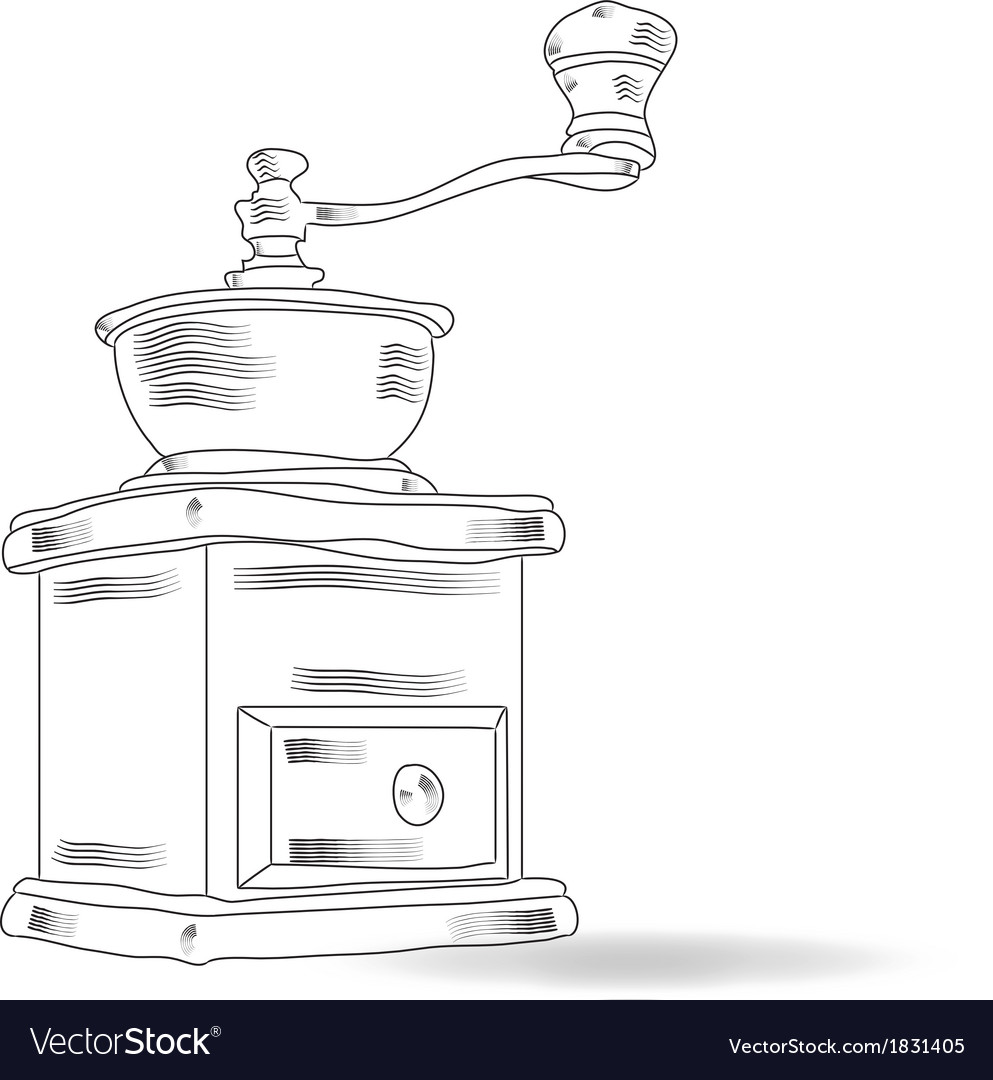 Sketch coffee grinder vector | Price: 1 Credit (USD $1)