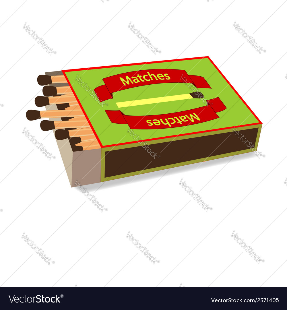 Top view matchbox on white vector | Price: 1 Credit (USD $1)