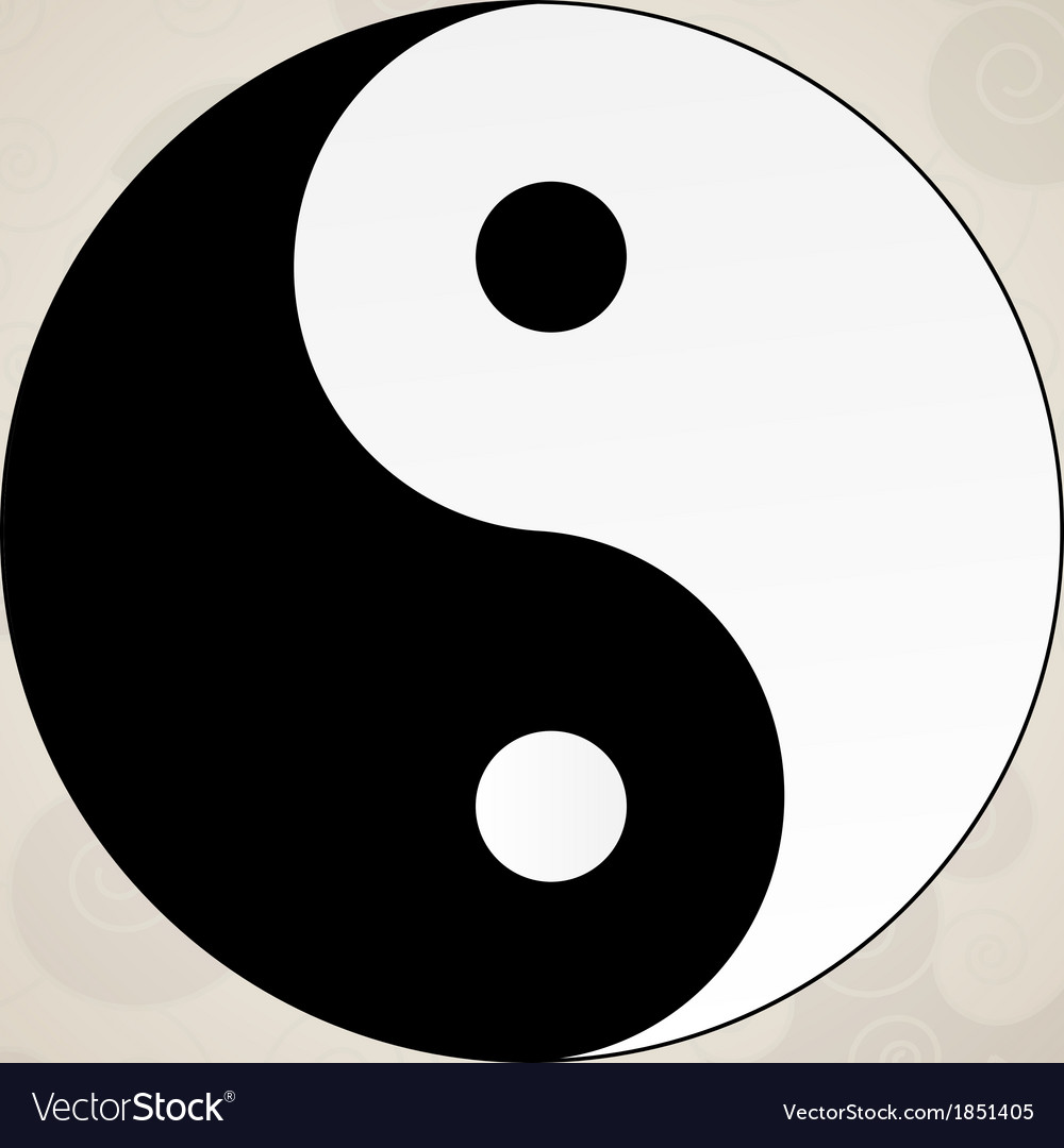 Ying yang japanese tattoo vector | Price: 1 Credit (USD $1)